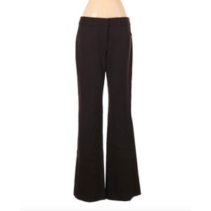 Theory 6 Dress Pants Brown Trousers Wool Blend